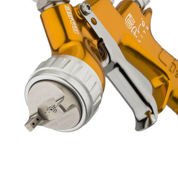 Pistola de Pintura HVLP-Transtec Gravidade DeVilbiss GTi Pro Lite